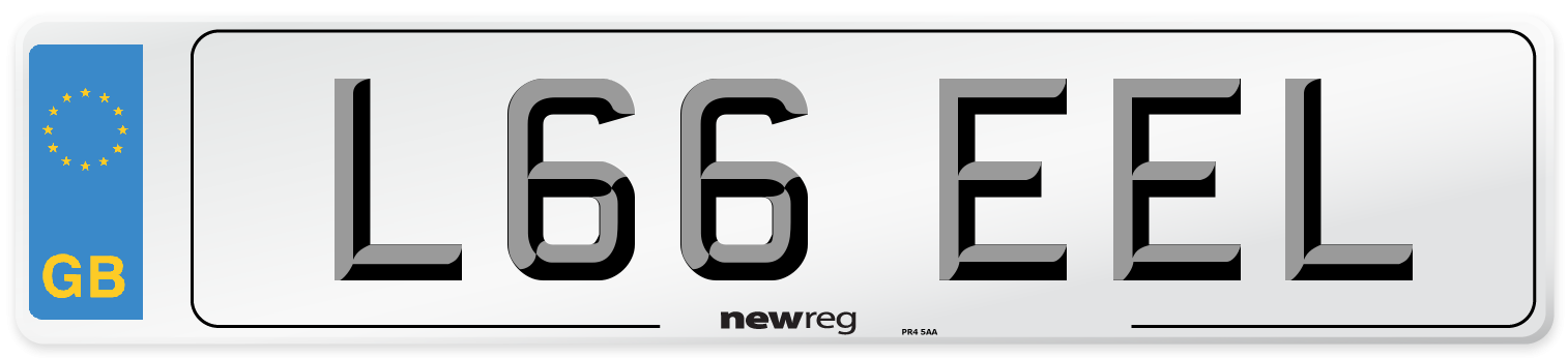 L66 EEL Number Plate from New Reg