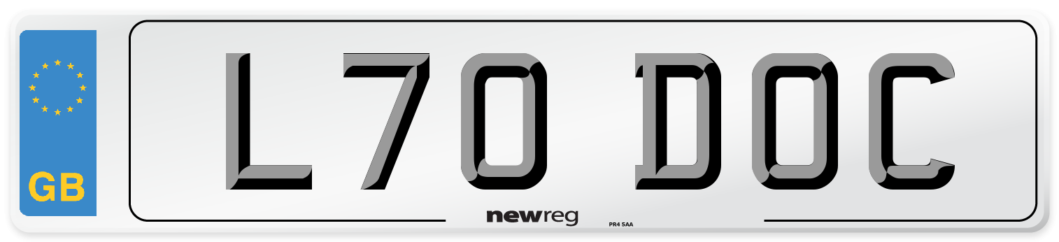 L70 DOC Number Plate from New Reg