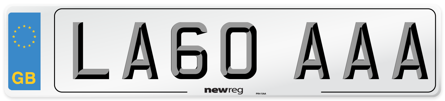 LA60 AAA Number Plate from New Reg