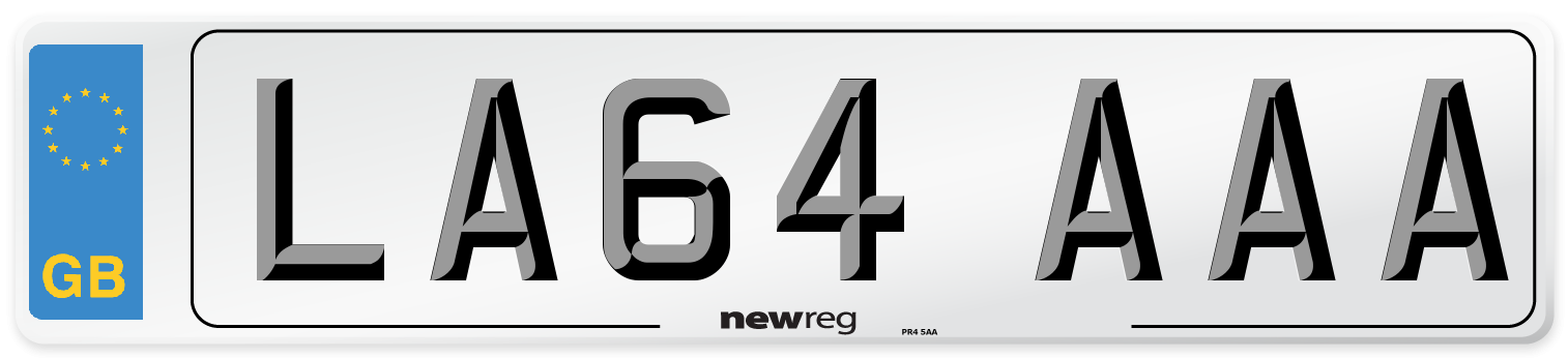 LA64 AAA Number Plate from New Reg