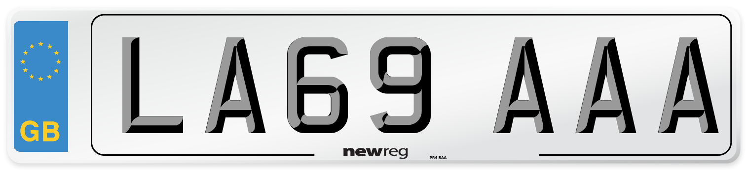 LA69 AAA Number Plate from New Reg
