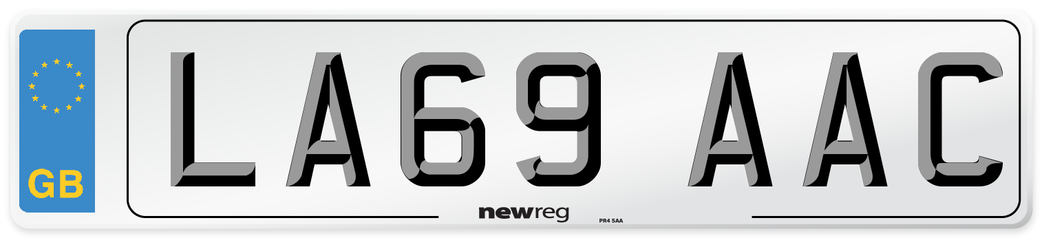 LA69 AAC Number Plate from New Reg