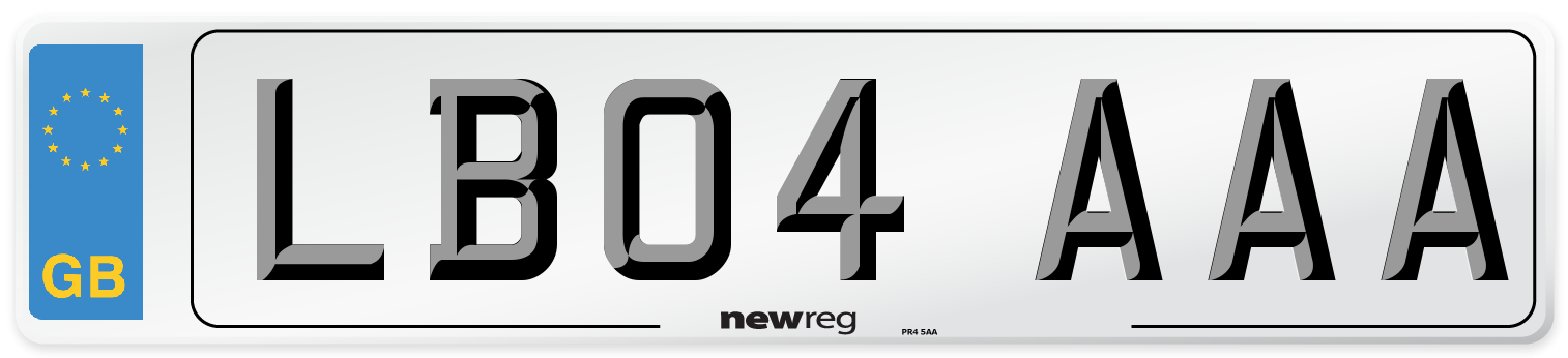 LB04 AAA Number Plate from New Reg