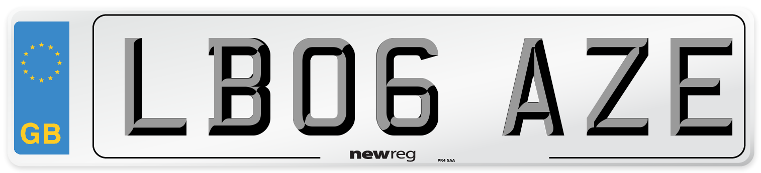 LB06 AZE Number Plate from New Reg