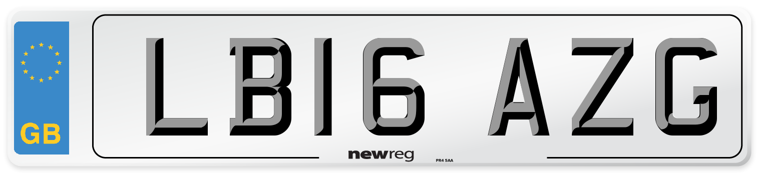 LB16 AZG Number Plate from New Reg