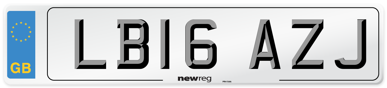 LB16 AZJ Number Plate from New Reg