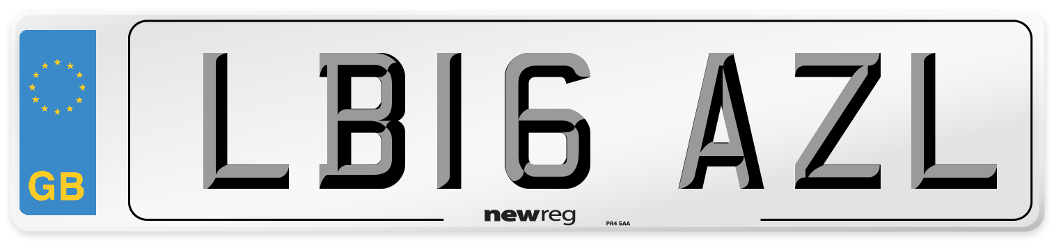LB16 AZL Number Plate from New Reg