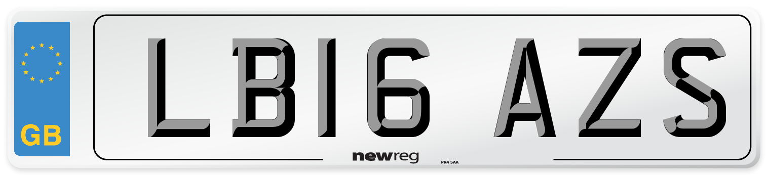 LB16 AZS Number Plate from New Reg