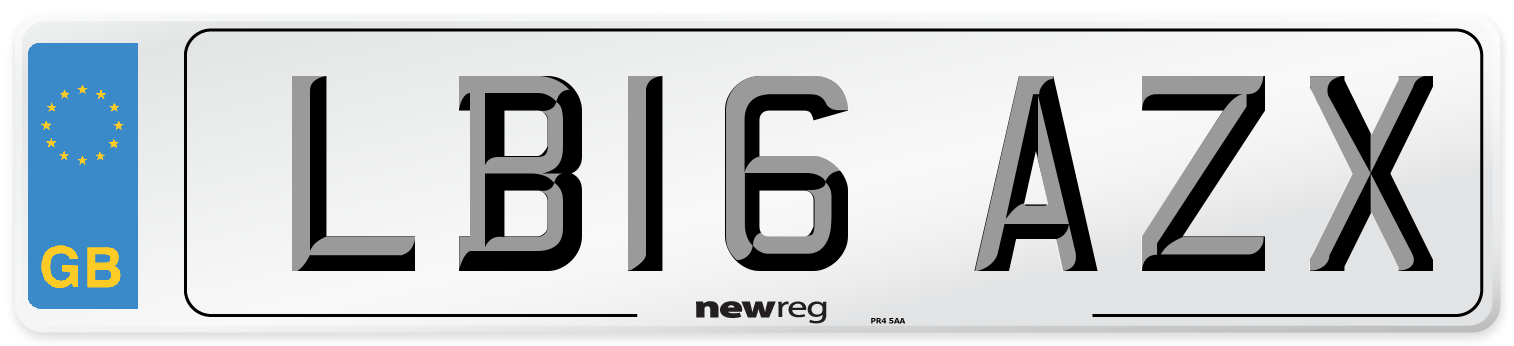 LB16 AZX Number Plate from New Reg