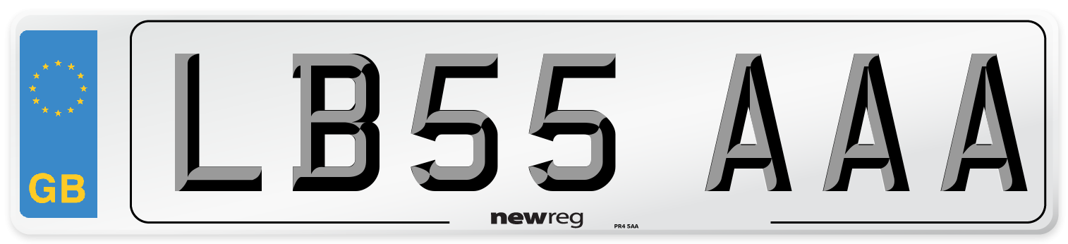 LB55 AAA Number Plate from New Reg