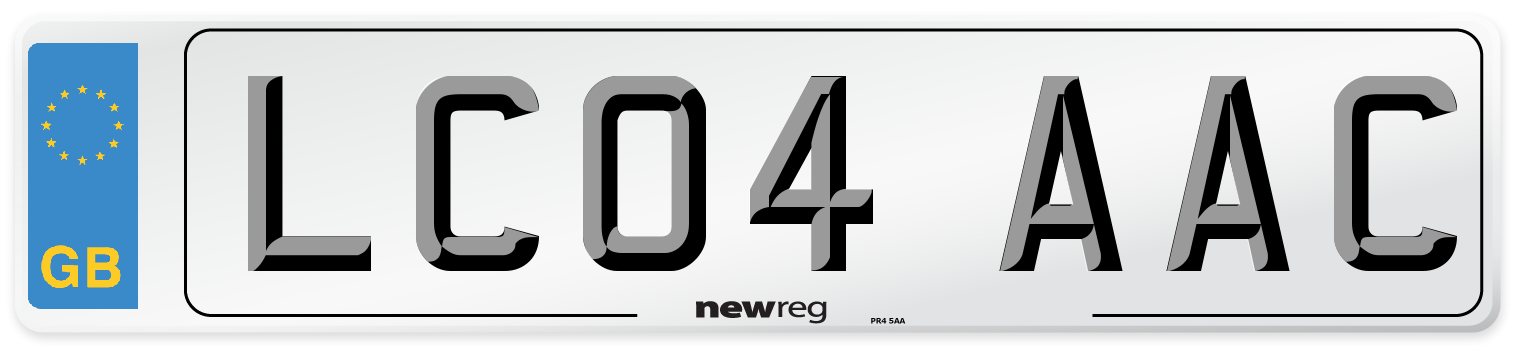 LC04 AAC Number Plate from New Reg
