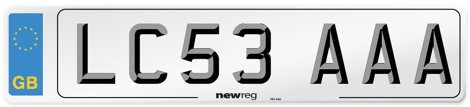 LC53 AAA Number Plate from New Reg