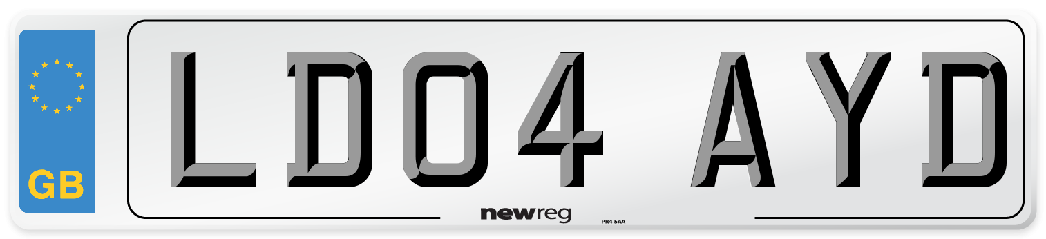 LD04 AYD Number Plate from New Reg