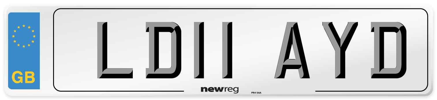 LD11 AYD Number Plate from New Reg