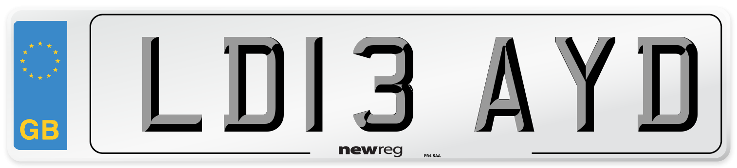 LD13 AYD Number Plate from New Reg