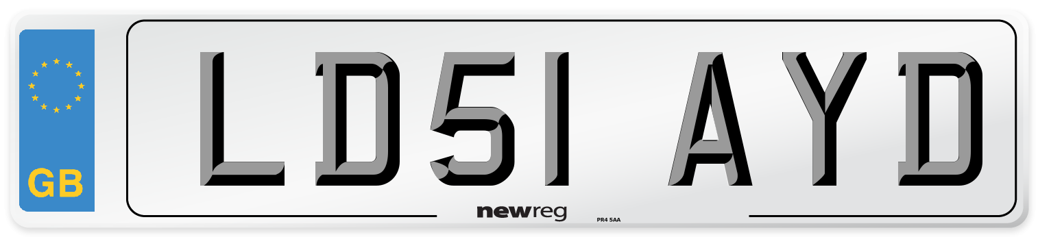LD51 AYD Number Plate from New Reg