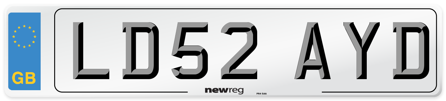 LD52 AYD Number Plate from New Reg