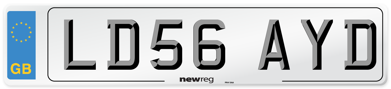 LD56 AYD Number Plate from New Reg