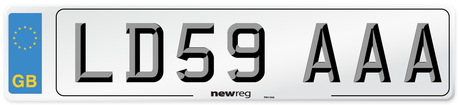 LD59 AAA Number Plate from New Reg