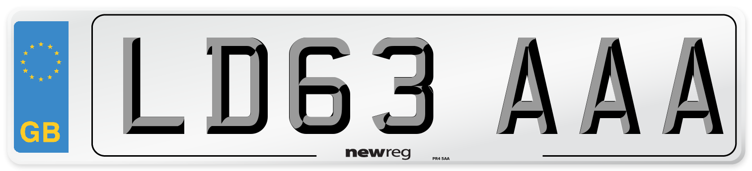 LD63 AAA Number Plate from New Reg