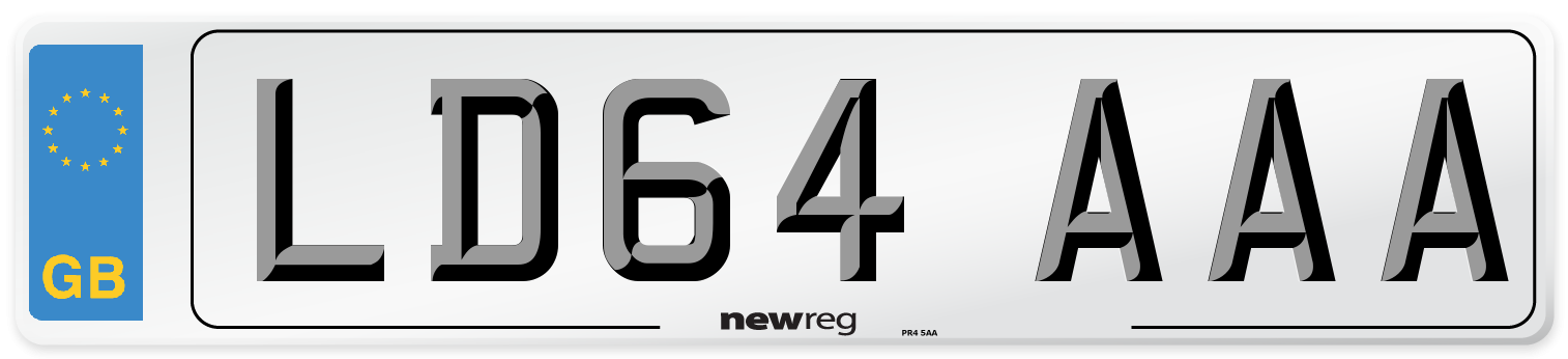LD64 AAA Number Plate from New Reg