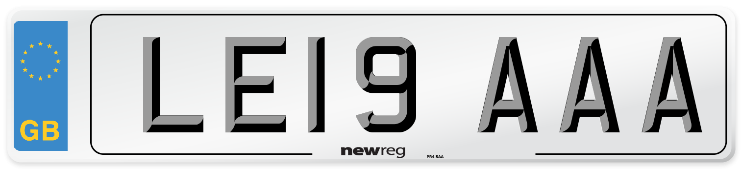 LE19 AAA Number Plate from New Reg