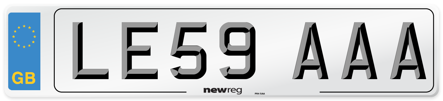 LE59 AAA Number Plate from New Reg