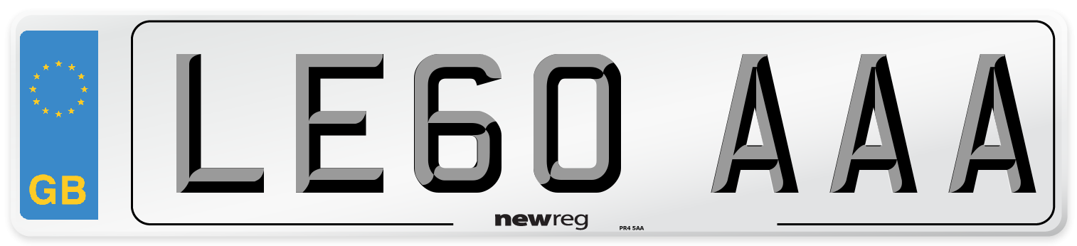 LE60 AAA Number Plate from New Reg