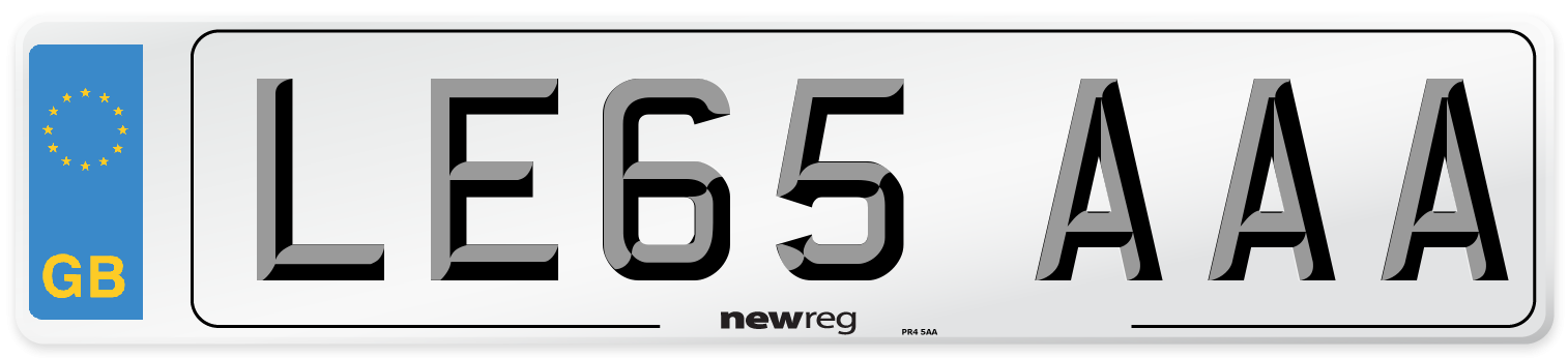 LE65 AAA Number Plate from New Reg