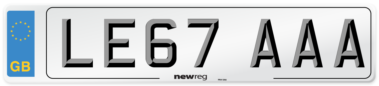 LE67 AAA Number Plate from New Reg