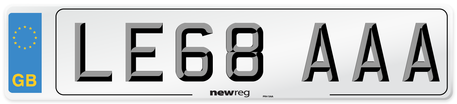 LE68 AAA Number Plate from New Reg