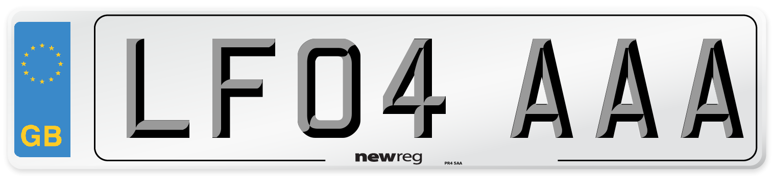 LF04 AAA Number Plate from New Reg