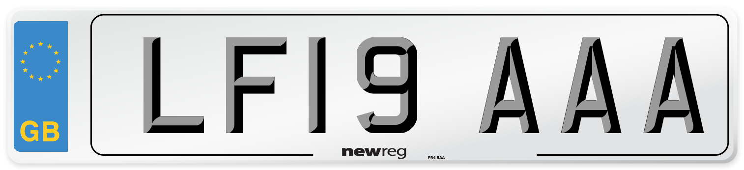 LF19 AAA Number Plate from New Reg