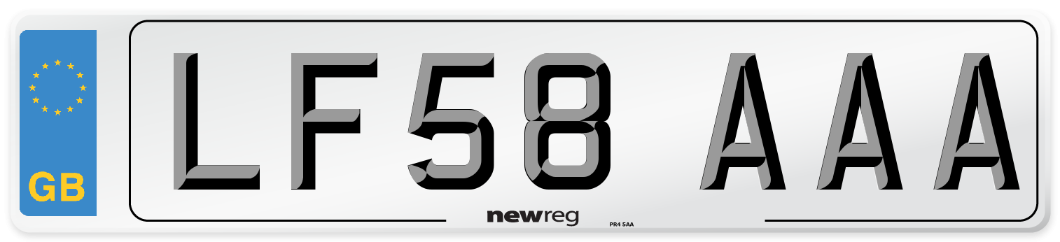 LF58 AAA Number Plate from New Reg