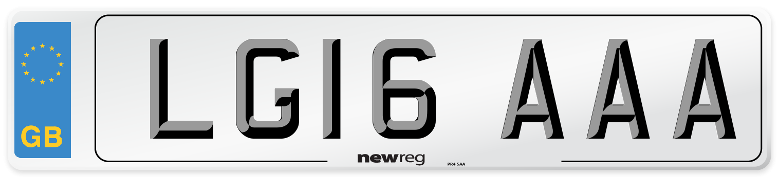 LG16 AAA Number Plate from New Reg