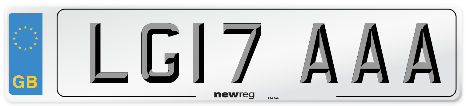 LG17 AAA Number Plate from New Reg