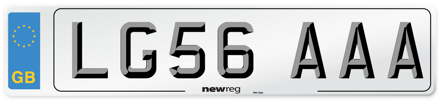 LG56 AAA Number Plate from New Reg