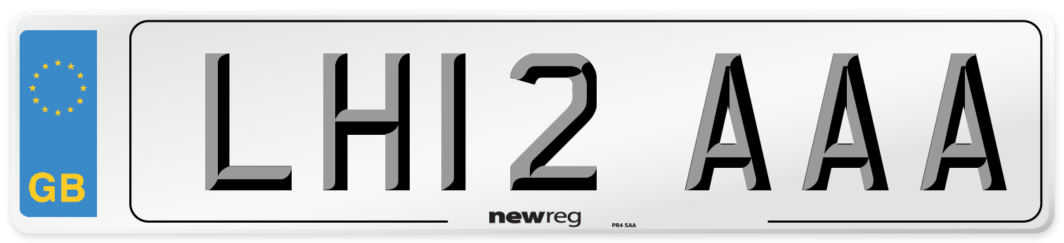LH12 AAA Number Plate from New Reg