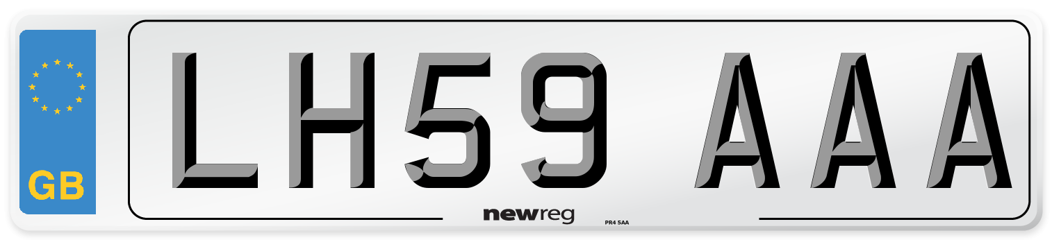 LH59 AAA Number Plate from New Reg