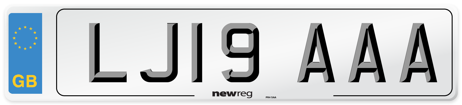 LJ19 AAA Number Plate from New Reg