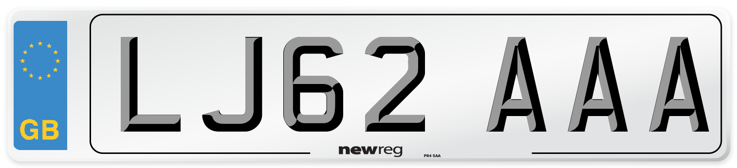 LJ62 AAA Number Plate from New Reg