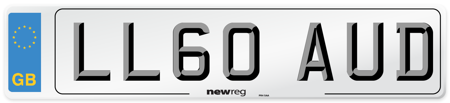 LL60 AUD Number Plate from New Reg