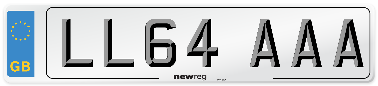 LL64 AAA Number Plate from New Reg