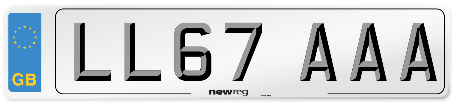 LL67 AAA Number Plate from New Reg