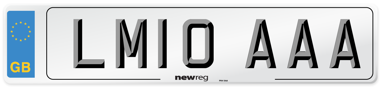 LM10 AAA Number Plate from New Reg