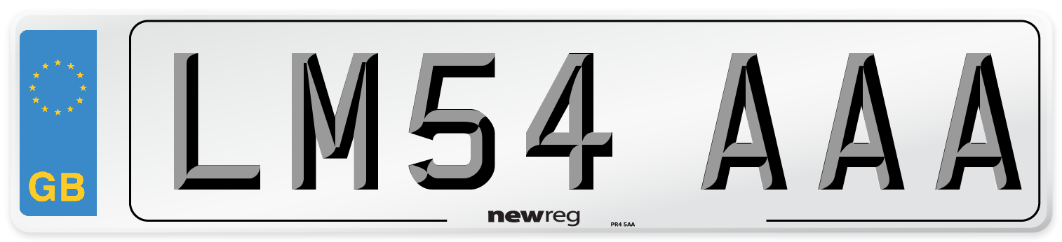 LM54 AAA Number Plate from New Reg