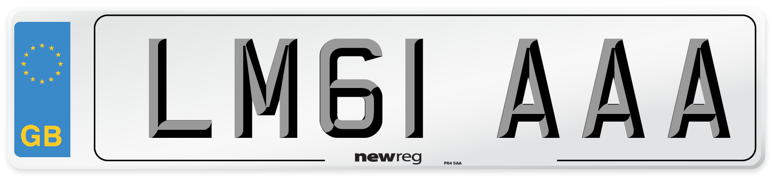 LM61 AAA Number Plate from New Reg