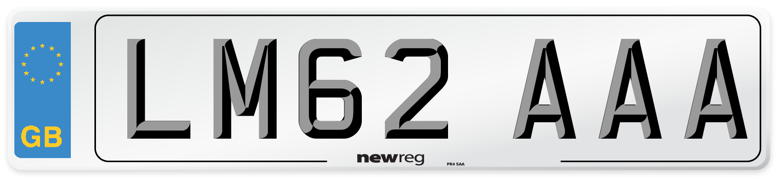 LM62 AAA Number Plate from New Reg