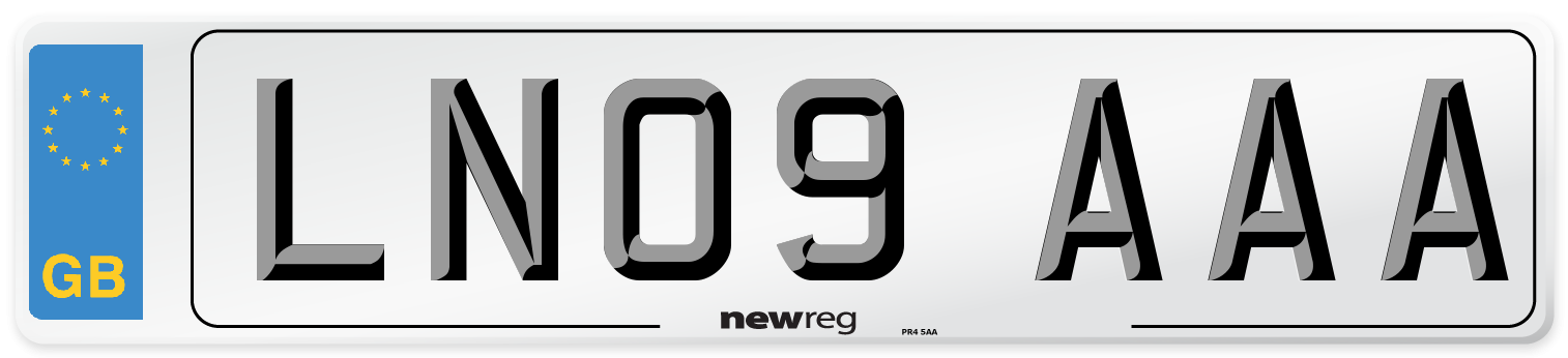 LN09 AAA Number Plate from New Reg