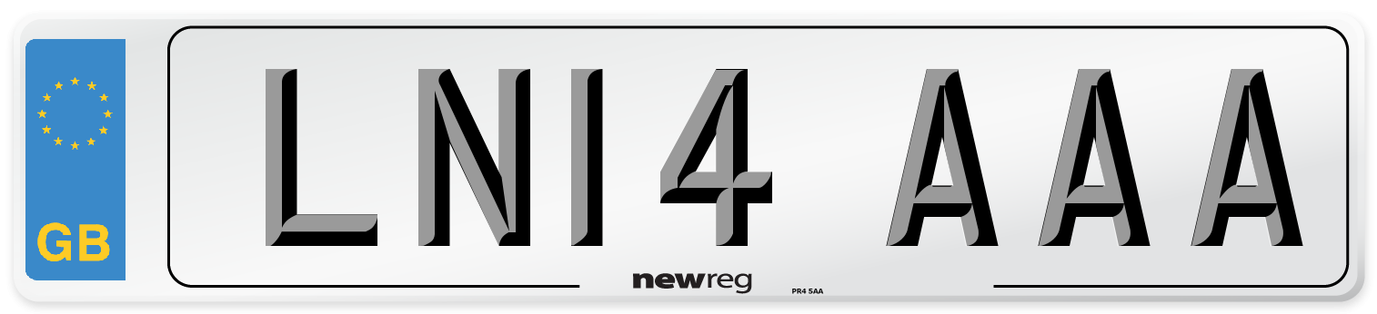 LN14 AAA Number Plate from New Reg